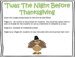 twas the before thanksgiving writing prompt by apple of