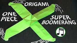 How Do You Make A Paper Boomerang - how to fold the one boomerang step by step diy