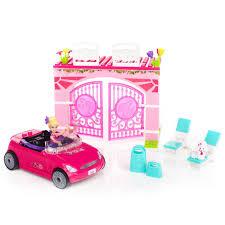 barbie convertible mega bloks girls barbie build n style pink convertible car 9 99
