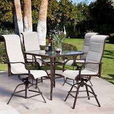 Bar Height Swivel Patio Chairs 5 Bar Height Patio Set W11g Cnxconsortium Org Outdoor