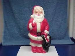 Vintage Plastic Christmas Lawn Ornaments by Vintage Empire Light Up Plastic Christmas Santa 1968 Ebay