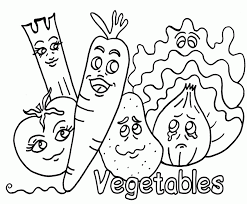 fruits vegetables coloring pages kids printable coloring