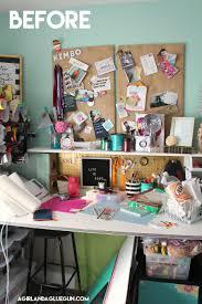 organizing my craft room a and a glue gun