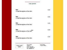 19 microsoft word menu template free wedding menu templates