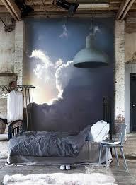 trompe l oeil chambre chambre à coucher au style industriel une tapisserie murale