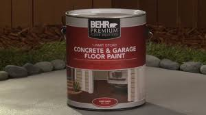 how to apply behr premium 1 part epoxy concrete u0026 garage floor