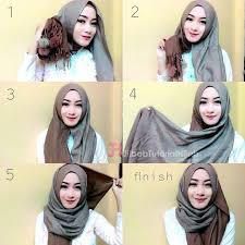tutorial hijab pashmina tanpa dalaman ninja tutorial hijab pashmina untuk pergi ke kantor simple dan modis