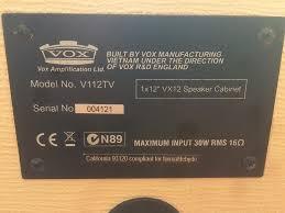 vox ac30 2x12 extension cabinet vox v112tv 1x12 guitar speaker cabinet j ole com