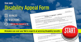 ssa 3441 social security disability appeal form
