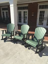 Amish Poly Outdoor Furniture by Polywood Rocking Chairs Polywood Adirondack Rockers