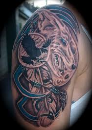 right half sleeve wolf for