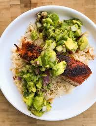 blackened salmon avocado salsa the barbee housewife