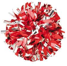 world twirling cheerleading poms in stock pom metallic