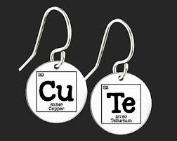 chemist earrings periodic earrings etsy