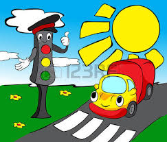 Traffic Light Clipart Lorry And Traffic Lights Funny Vector Illustration For Kids
