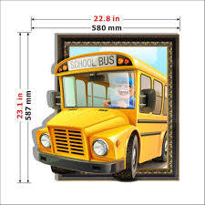 3d baby kids room cartoon bus wall decals removable wall