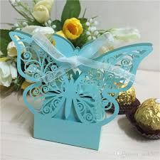 butterfly favor boxes big size laser cut butterfly wedding favor box in pearl color