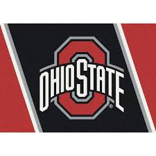 ohio state buckeyes collegiate spirit rug stripe free shipping