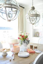 Lantern Dining Room Lights Neutrals A Pop Of Pink Win In This Home Moroccan L