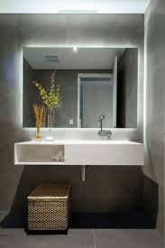 Bathroom Mirror With Built In Light Bathroom Design And Decoration Using Modern Mount Wall White