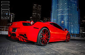 ferrari 458 back ferrari 458 italia on custom rims by exclusive motoring u2014 carid