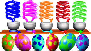 Best Color For Kids Learn Colors For Kids With Colorful Spiral Lamp Color Surprise
