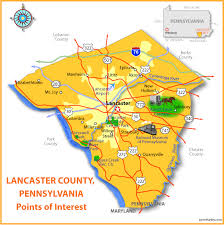 map of lancaster pa lancaster county point of interest map placescape lancaster