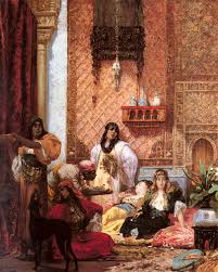 The Dinner Party Painting Jules Grun - georges jules victor clairin the sultans favorites orientalism