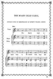 the boars head carol
