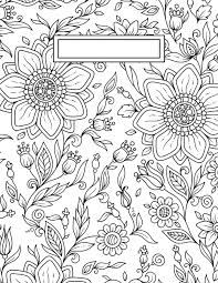 back to binder cover coloring pages binder