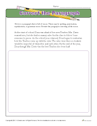 correct the paragraph proofing and editing worksheets
