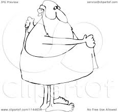 cartoon of a black and white santa drying off with a towel