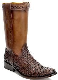 s roper boots canada cuadra handmade mens brown braided lizard leather roper