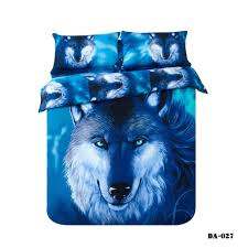 Wolf Bed Sets 3d Wolf Bedding Sets King Size 100 Cotton Fabric Quilt