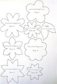 different flower patterns maybe for making flower pins