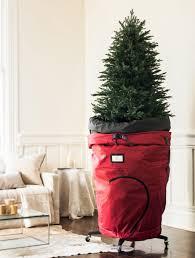 christmas rolling christmas tree storage bag balsam hill