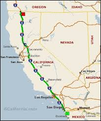 map of oregon i 5 map of interstate 5 wa seattle to california interstate 5