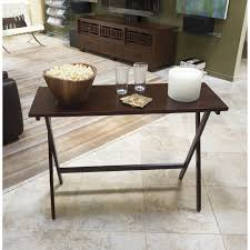 Simple Tv Table Winsome Walnut 5 Piece Curved Rectangular Tv Tray Set Hayneedle