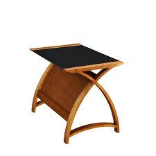 Recliner Laptop Desk by Felix 130cm Walnut Black Glass Laptop Desk Home Office