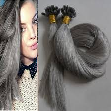 grey hair extensions aliexpress online hot sales 100g grey hair extension