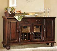 Dining Room Buffet Tables Cortona Buffet Pottery Barn Consider My Baskets In Open Shelves