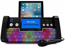 karaoke machine with disco lights easy karaoke eks780 bt bluetooth cd g party karaoke machine with