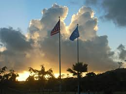 Saipan Flag File Usa And Northern Mariana Islands Flags Jpg Wikimedia Commons