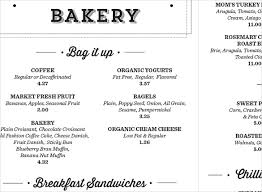 simple menu template free 27 bakery menu templates free sle exle format