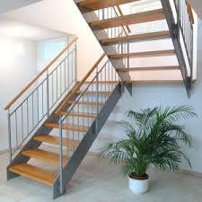 handlauf fã r treppen kombination holz stahl treppen treppenbau holztreppen