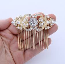 pearl hair accessories pearl hair comb gold wedding bridal hair accessory pearl