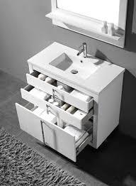 Modern Bathroom Cabinet by Adornus Turin 48 Inch White Modern Bathroom Vanity Free Standing
