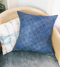 sashiko pattern pillow cover home decor u0026 lighting chloé