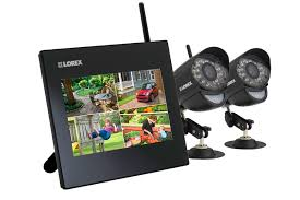 security system with 2 wireless cameras lorex