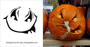 Free Scary Halloween Pumpkin Stencils - 15 free printable scary halloween pumpkin carving stencils